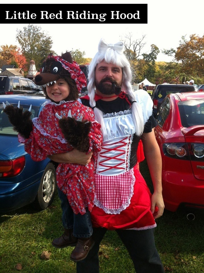 Funny Little Red Riding Hood family costume