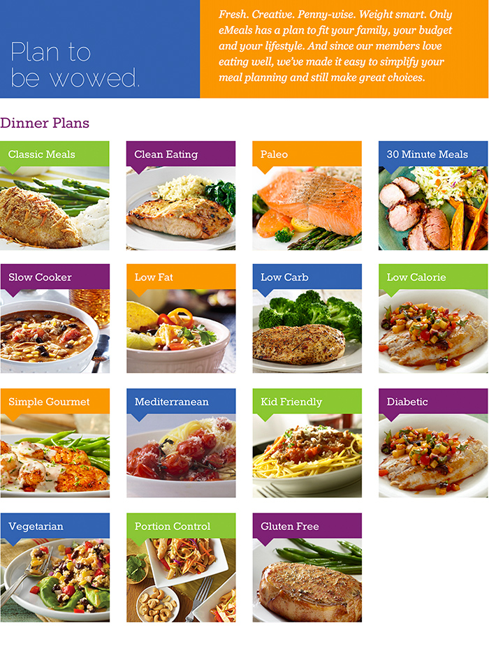eMeals makes meal planning easy