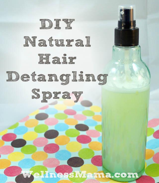 DIY natural hair detangling spray