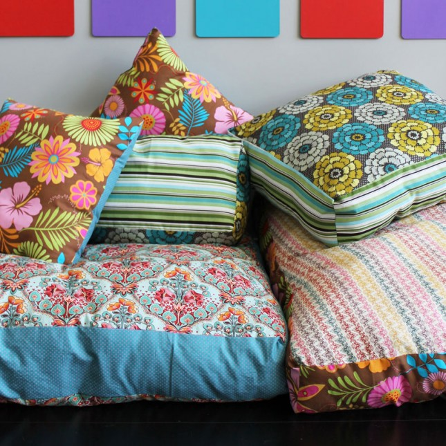 Sew giant floor cushions.