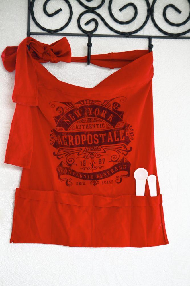 turn a t-shirt into an apron!