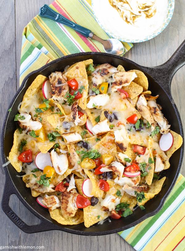 chile fish nachos!