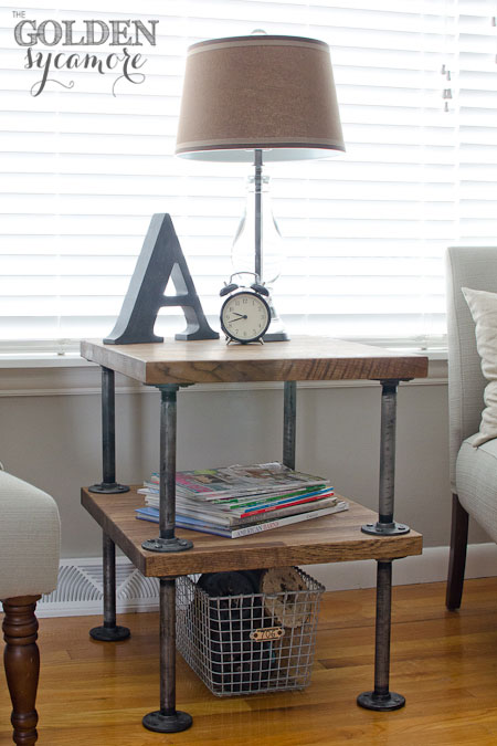Rustic industrial end table tutorial (and lots of other similar tutorials)