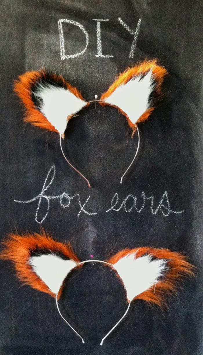 No sew DIY fox ears tutorial
