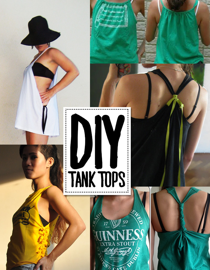 Turn a t-shirt into a tank top