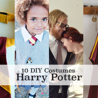 10 DIY Harry Potter costume tutorials - men, women, girls, boys, dogs & props!