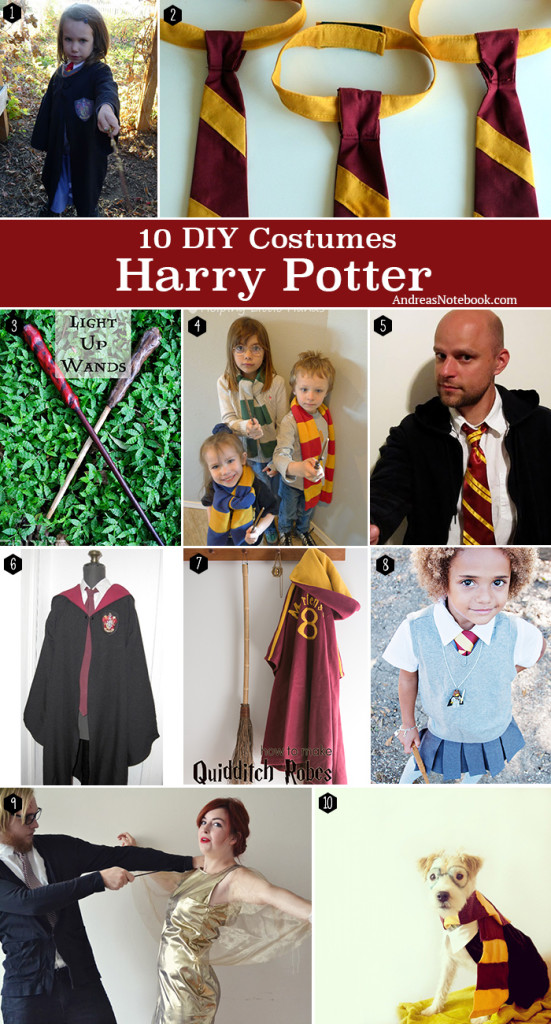 10 DIY Harry Potter Costume tutorials and free patterns