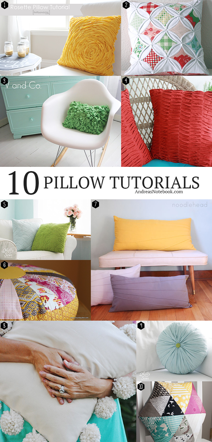 collage of many different types of pillows