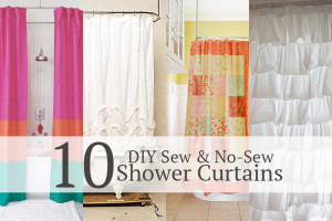 10 Shower curtain tutorials! Sew & No-Sew!