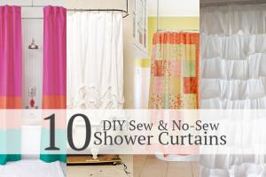 10 Shower curtain tutorials! Sew & No-Sew!
