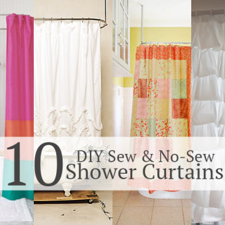 10 DIY shower curtains (sew and no sew)