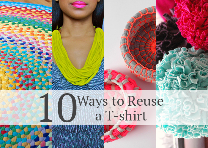 10 Ways to Reuse a T-shirt - Great DIY tutorials! - AndreasNotebook.com