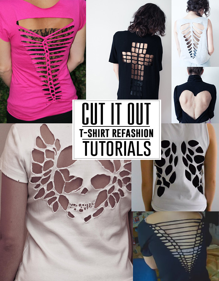 t-shirt cutout tutorials