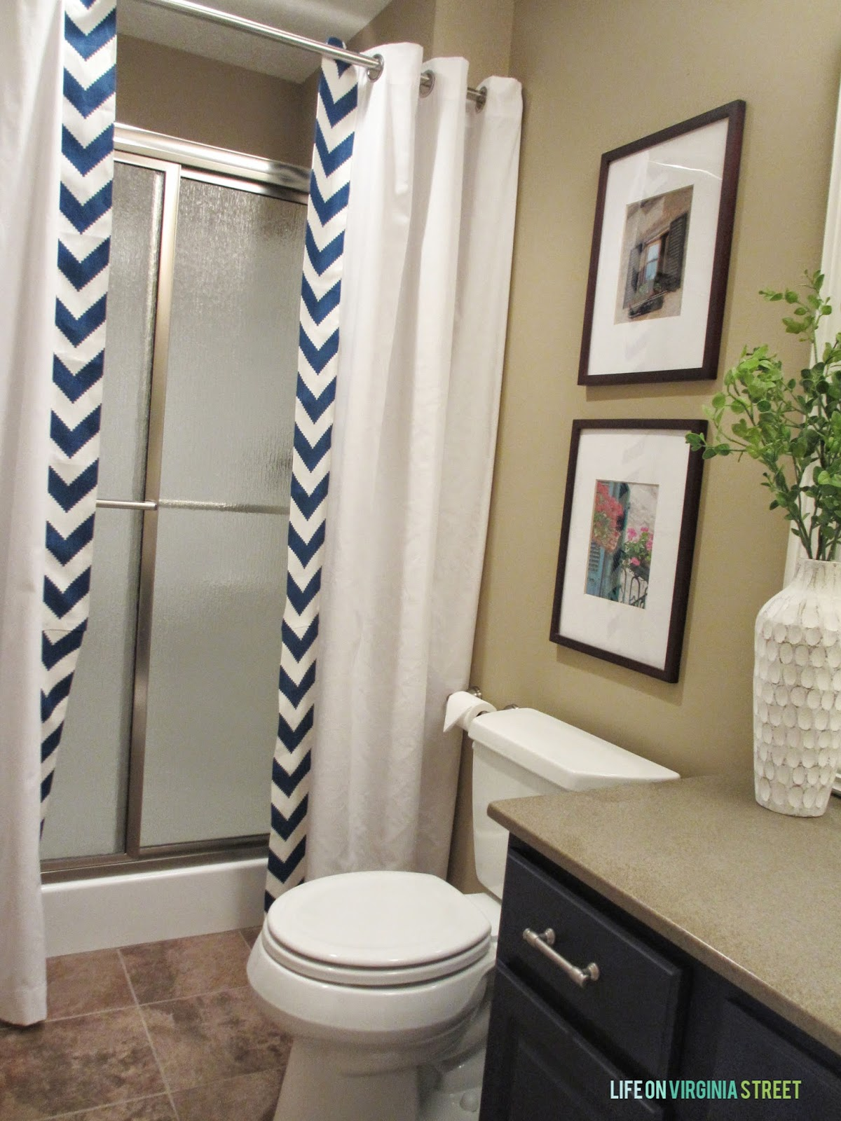 10 Diy Shower Curtains Sew And No, How To Use 2 Shower Curtains