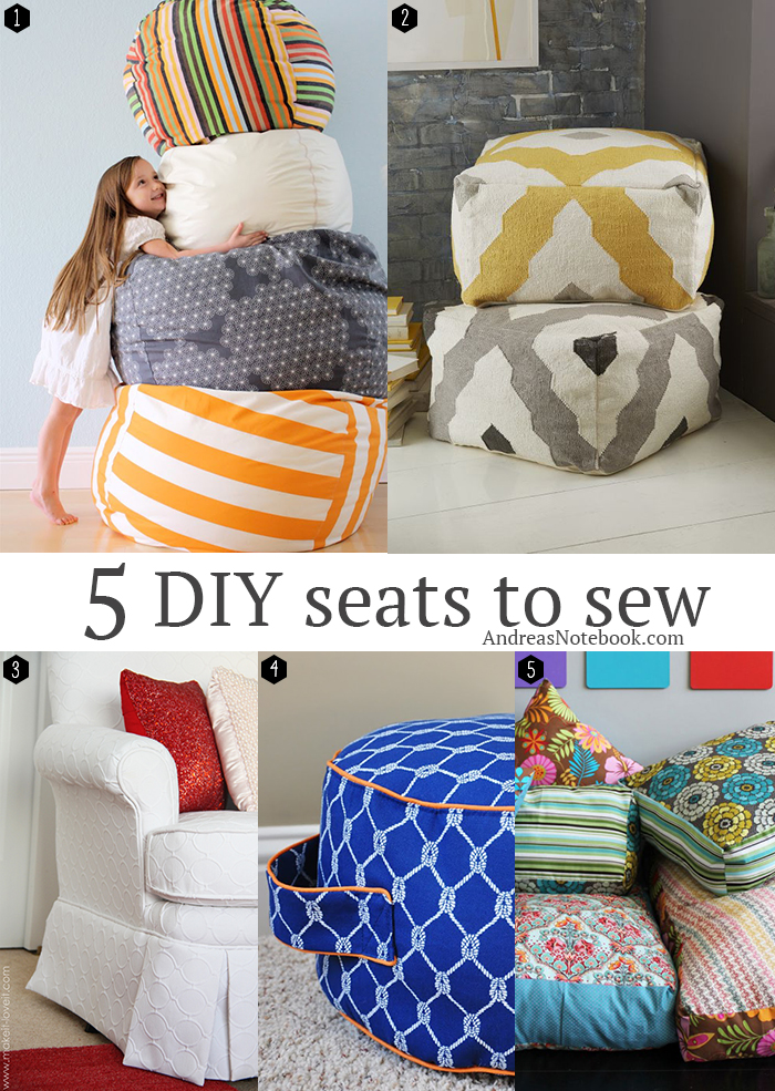5 Diy Seats To Sew For Your Home Andrea S Notebook