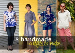 8 handmade outfits - sewing patterns from Pattern Anthology