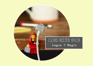 Legos as cord keepers!