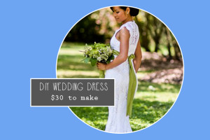 DIY crocheted wedding dress
