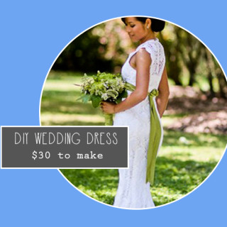 $30 DIY Crocheted Wedding Dress