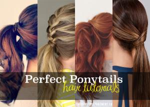Lovely ponytail tutorials
