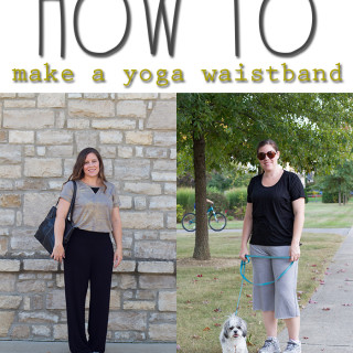 How to sew a yoga style waistband – Day 2