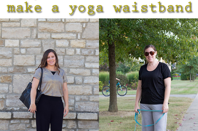 how to make a yoga waistband