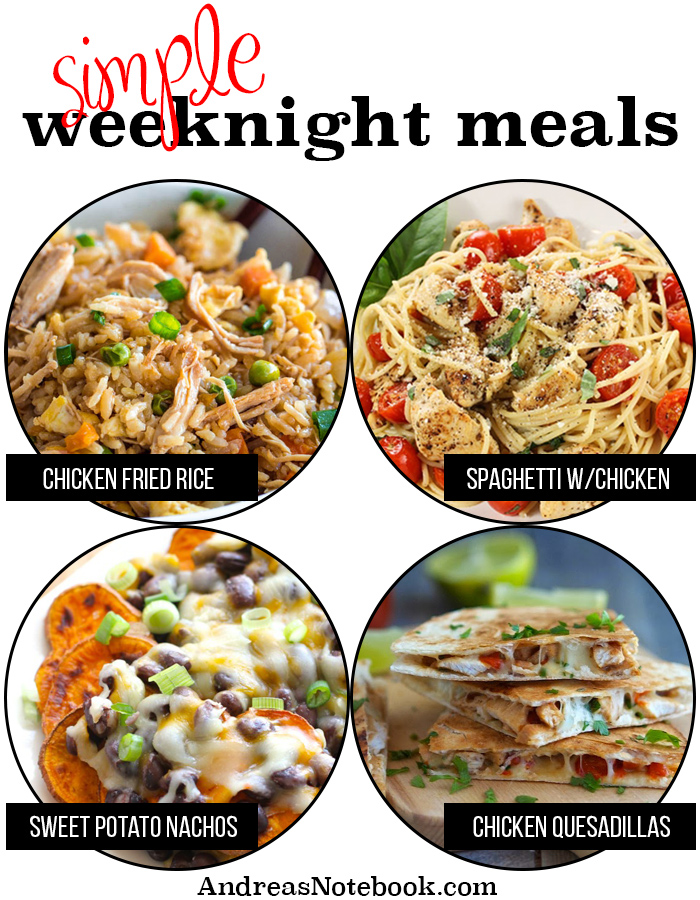 Simple weeknight meals - everything is already in your pantry!