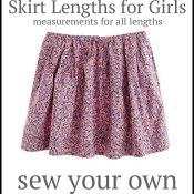 Skirt length chart you must save if you sew!