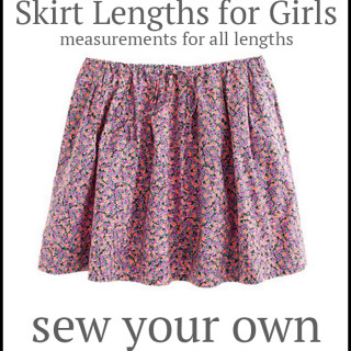 Skirt length chart you must save