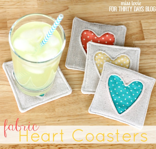 heart coaster tutorial