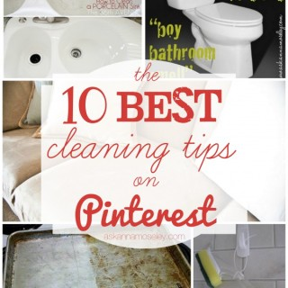 10 Best Cleaning Tips on Pinterest