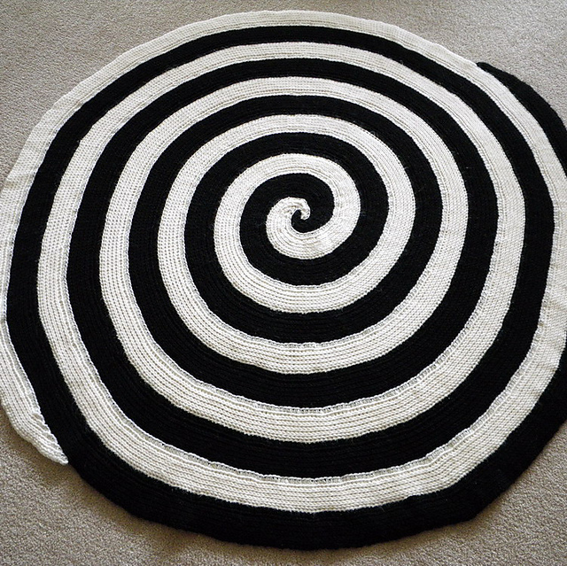 Double spiral tunisian afghan free tutorial