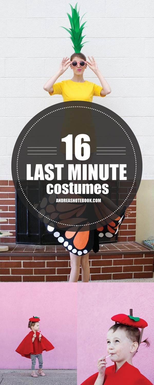 16 Last Minute Costume Tutorials