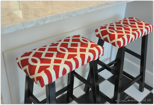 stool cover tutorial