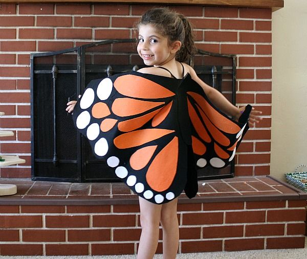 Easy DIY no-sew felt butterfly wings!