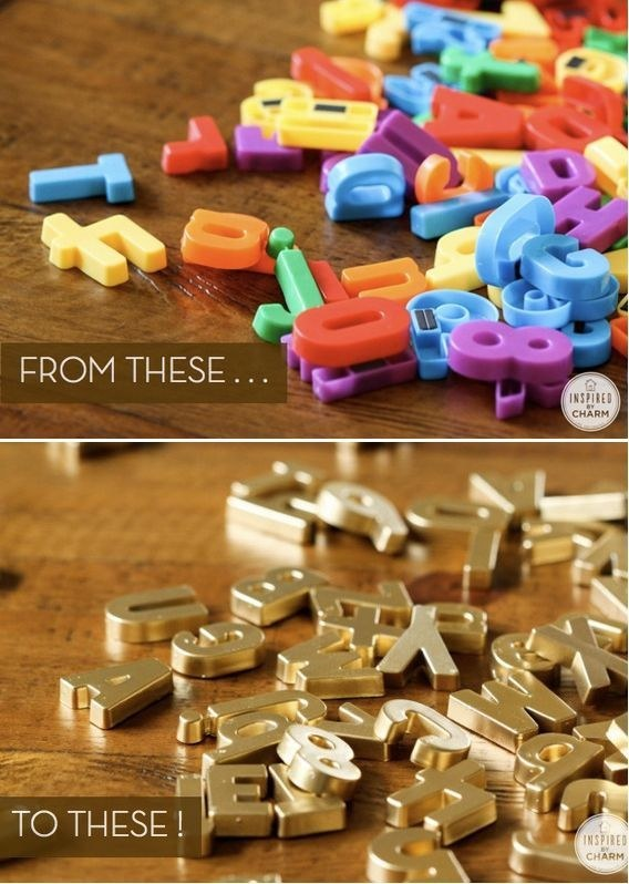 Amazing gold letters DIY