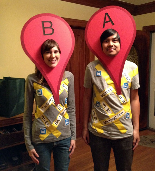 Google maps costume