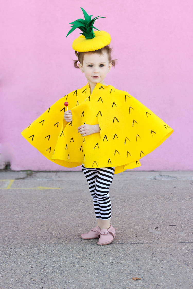 Adorable NO SEW pineapple costume