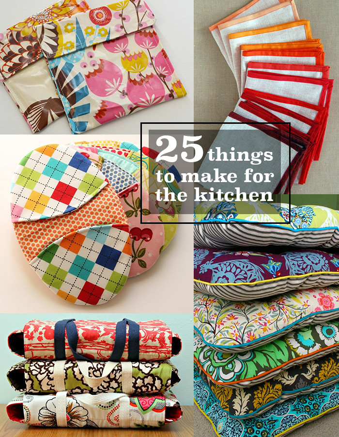 25 things to sew for the kitchen andrea 39 s notebook for Kitchen crafts to make