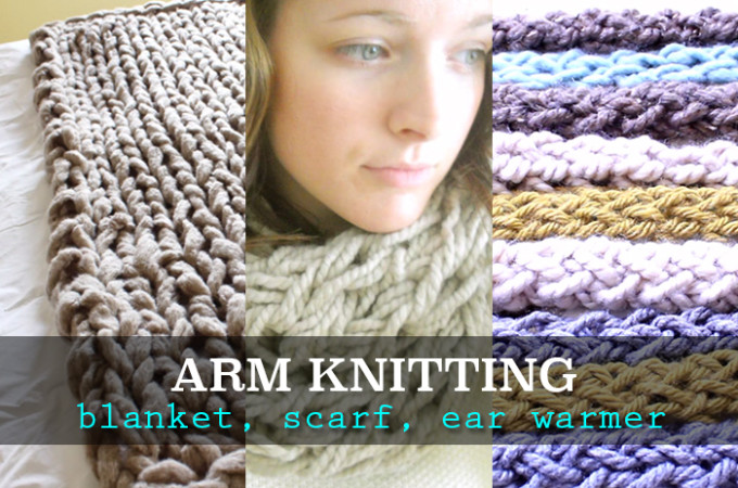 Arm knitting tutorials