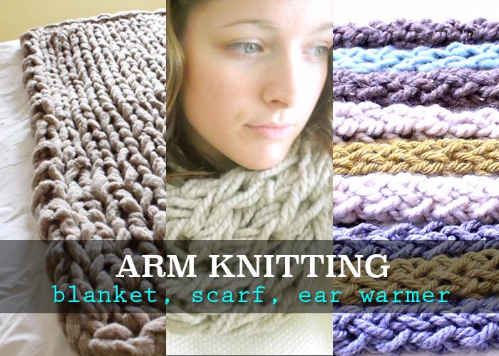 Arm knitting tutorials