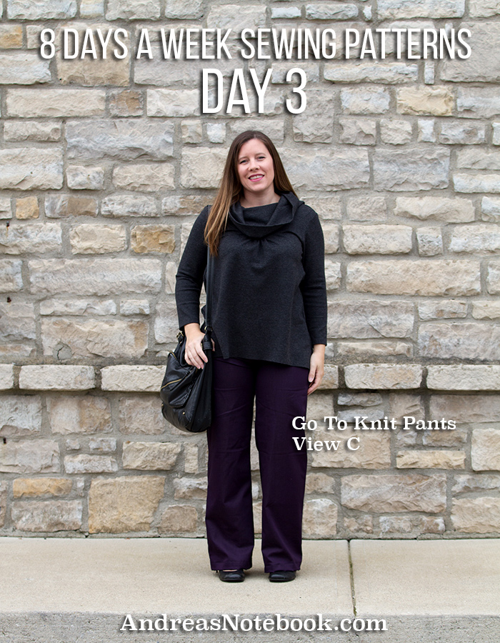 DIY Outfit: stretch twill Go To Knit Pants & the City Girl top