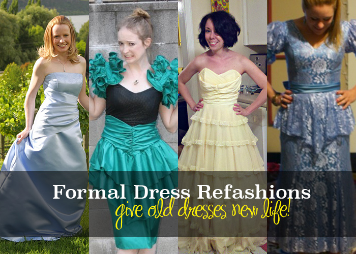 Prom Dress Refashion Ideas - Andrea\'s Notebook