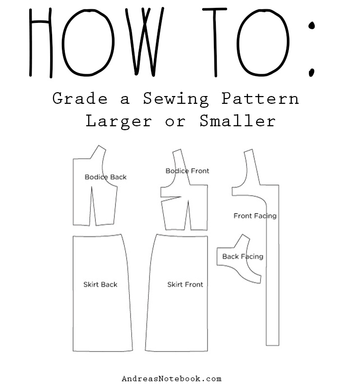 Grade A Sewing Pattern Larger Or Smaller Andreas Notebook