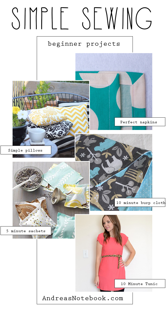 Super simple sewing projects