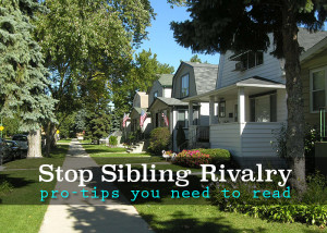 STOP sibling rivalry. A must read post.