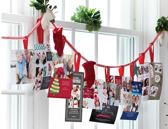 Christmas Card Display Ideas - Andrea's Notebook