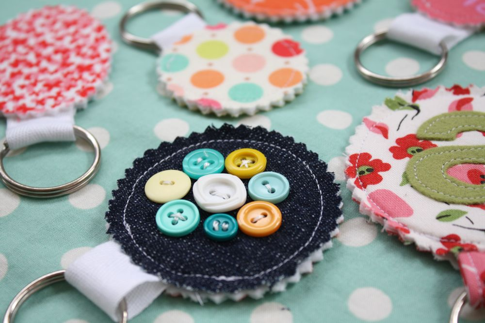 scrap fabric key chains