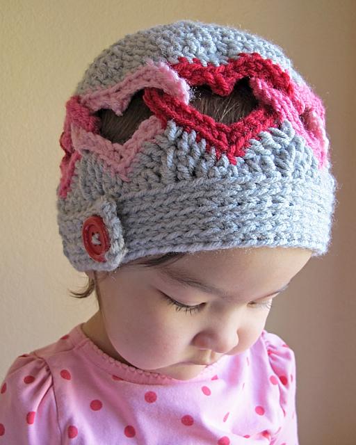 Adorable heart crochet hat pattern (plus more patterns)
