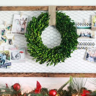 Christmas card display ideas! So cute!